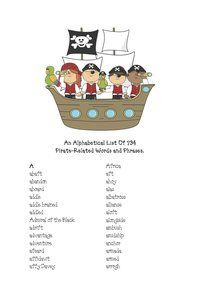 An alphabetical list of 794 pirate words and phrases! FREEBIE