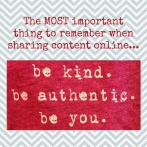 The most important thing to remember about sharing content online ...
