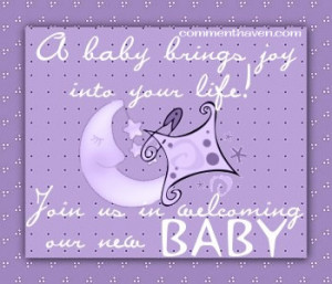 Welcome Baby Joy picture for facebook