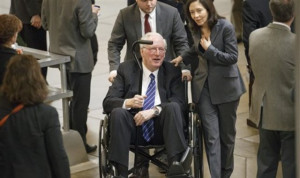 Sen Maria Cantwell D Wash pictures here with Sen Jay Rockefeller