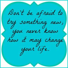 try something new fear hold