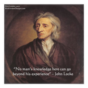 john_locke_experience_knowledge_quote_poster ...