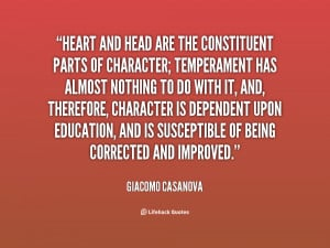 ... ; temperament has almost... - Giacomo Casanova at Lifehack Quotes