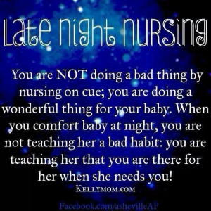 Late night nursing