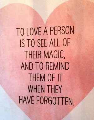Love, magic, truth. #quotes