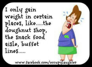 gain weight in certain places!