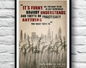 Quote Poster, The Catcher in the Rye, Wall Decor, J.D. Salinger ...