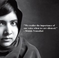 We realize the importance of our voice when we are silenced.