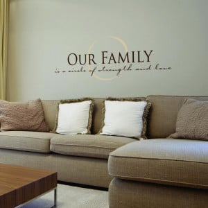 Family Room Wall Quotes #inspiration