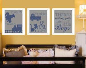 ... boys,Blue,Boy Nursery-Kids Inspirational-Quote-Typography-Little Boy