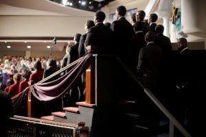 ... service for the Rev. Charles Stanley at First Baptist Church Atlanta