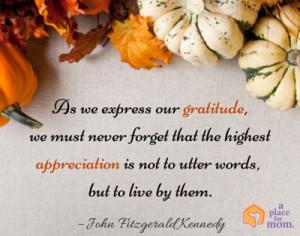 Quote: Gratitude and Appreciation