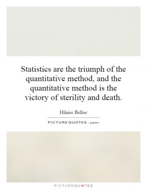 are the triumph of the quantitative method, and the quantitative ...