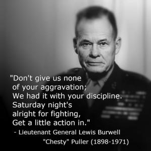 """Lieutenant General Lewis Burwell """"Chesty"""" Puller (1898-1971)"""