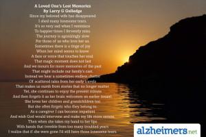 Loved Ones Lost Memories
