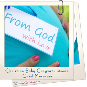 Messages to Write for Christians in New Baby Cards