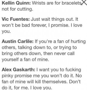 Vic Fuentes Self Harm Quotes