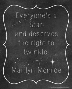 How bright your star twinkles is up to you!