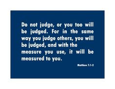 verses on judging others | faithful fridays judging 300x231 bible ...