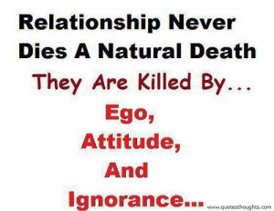 Nice relationship quotes thoughts ego attitude ignorance great best