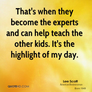That's when they become the experts and can help teach the other kids ...