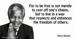 ... Nelson Mandela's ANC without taking into account the original sin of