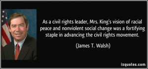 , Mrs. King's vision of racial peace and nonviolent social change ...