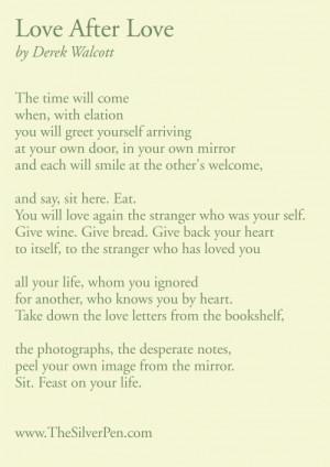 Feast On Your Life by Derek Walcott