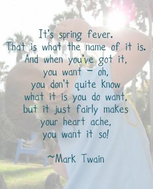 Spring Fever - Mark Twain