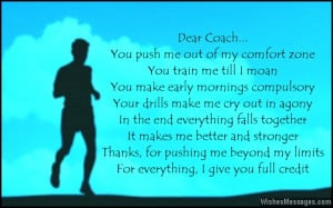 Thank You Messages for Coach: Thank You Notes