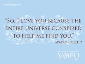 Paulo Coelho,love quote