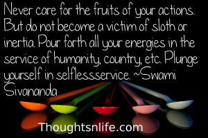 thoughtsnlife, karma quotes, selfless service quotes