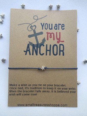 You Are My Anchor, Love Quote, Friendship Bracelet, Love Quote Card ...