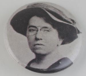 Emma Goldman button, emma goldman pin-back button, anarchist button ...