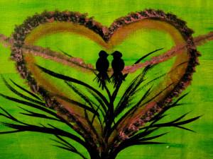 Love birds Wedding Spring is here! Heart shape Lovers gift Love Flower ...