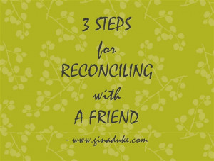 God Can Reconcile Friends – Praise Him!