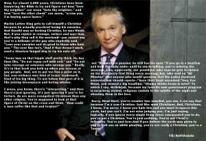 Anti Religion Quotes Bill maher christian bullshit.