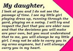 ... become a mother. I am so proud of the young woman that she has grown