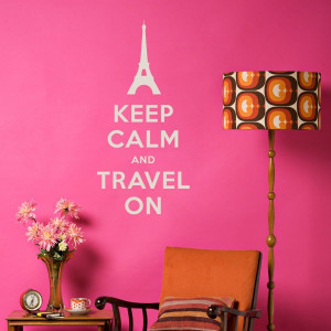 Wall Decal Inspiration: Keep Calm and Travel On!