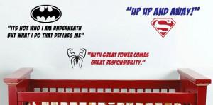 Wall Vinyl - Superhero Quote Decals