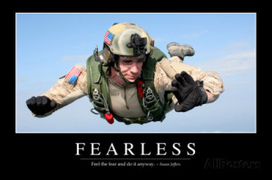 Fearless: Inspirational Quote and Motivational Poster Photographic ...