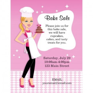 Bake Sale Flyer and Poster Ideas