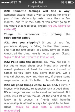 25 Friends with Benefits Rules to Remember...♦