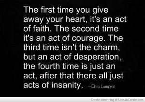 The Many Acts Of Giving Your heart Away www.facebook.com ...