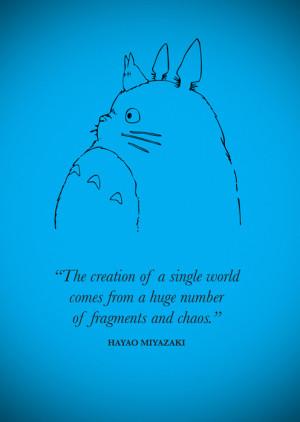 Tags: Hayao Miyazaki My Neighbour Totoro quotes anime
