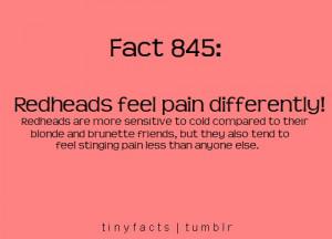 Redheads Hair Fact #2