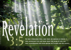 Bible Verse Revelation 3:5 Overcome Christian HD Wallpaper