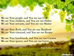 Chabad.org: Yom Kippur inspiration from the High Holiday prayers