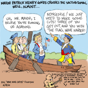 Sunday Funny: Mayor Patrick Henry Jones Crosses the Sactopotomac