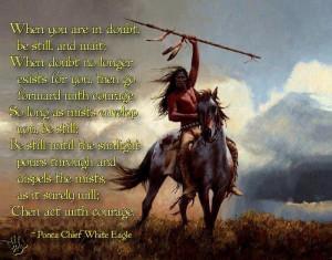 Chief White Eagle quote